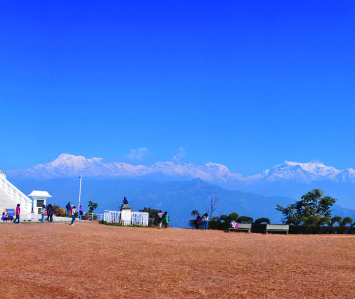 trekking in buddha stupa of pokhara