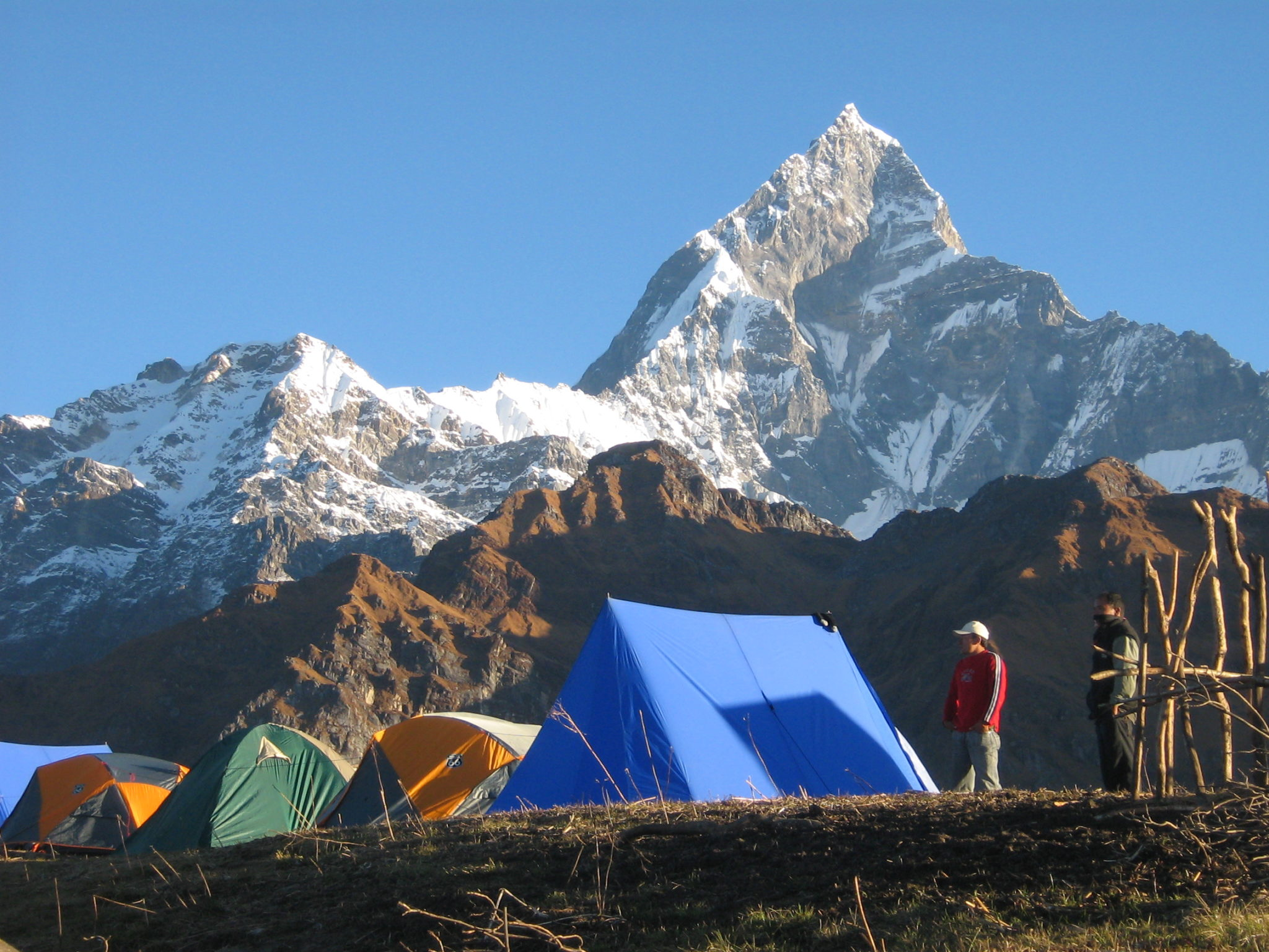 Machhapuchre mountain from pokhara nepal