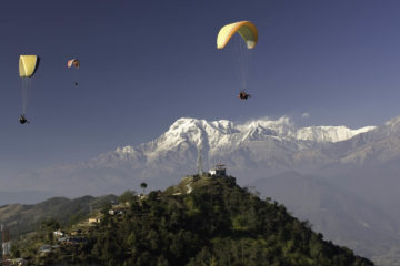 parachute in Pokhara