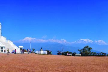 trekking in buddha stupa of pokhara